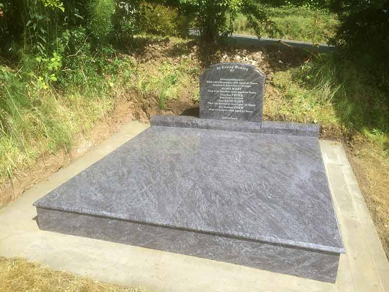 maintenance free memorials headstones donegal