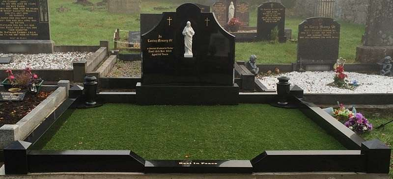 maintenance free headstone memorial