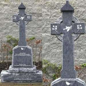 Custom Headstone with Cross