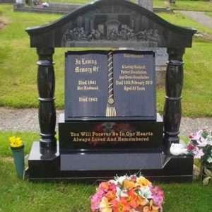 custom headstone last supper