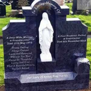Headstone Mary centre piece