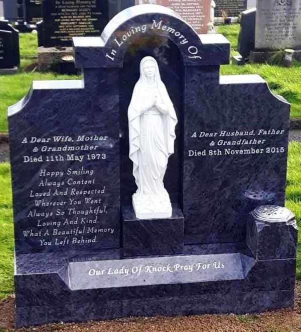 Headstone Mary centre piece