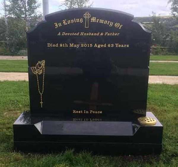 Headstone Engraved Rosary