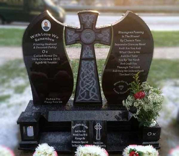 Headstone Cross centre piece