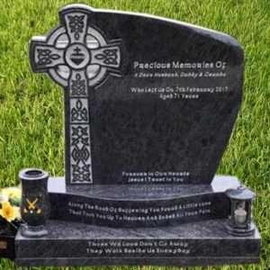 Headstone Celtic Cross. Heart centre