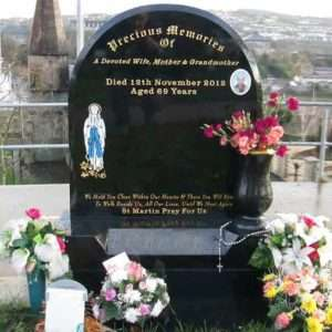 Headstone with Colour Engrave