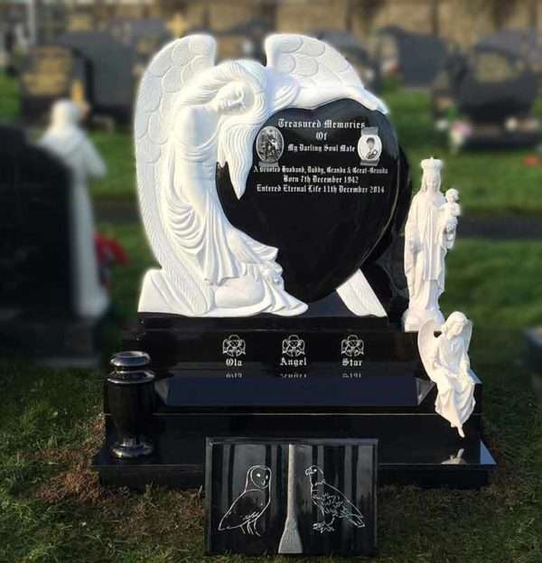 angel headstones derry donegal