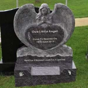 custom childs angel headstone