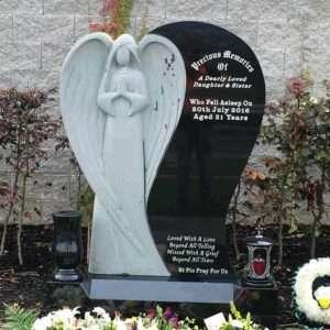Angel Headstone memorial donegal