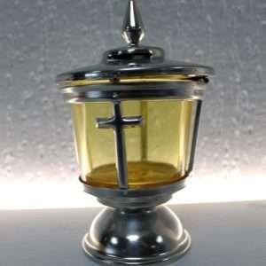 lantern memorial accessory with cross