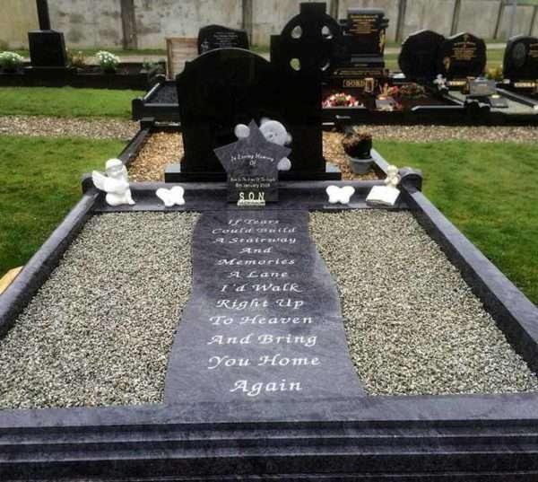 custom headstone surround childrens