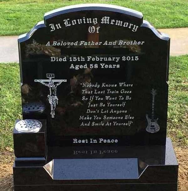 custom headstone Jesus Our Lord