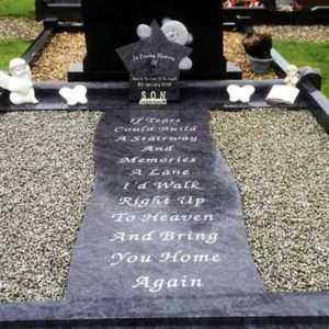 custom headstone surround childrens