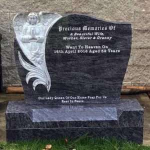Angel custom headstone