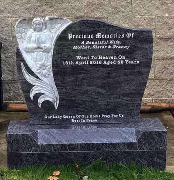 Angel custom headstone