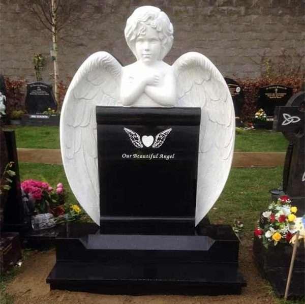 childs headstone angel