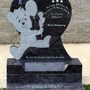 Childs memorials with teddy