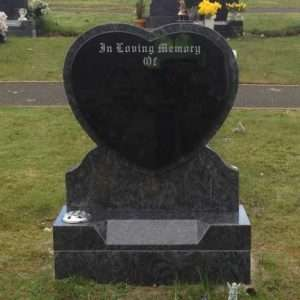 heart headstone donegal