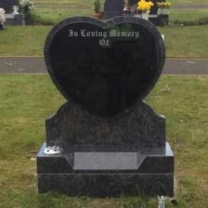 heart headstone donegal