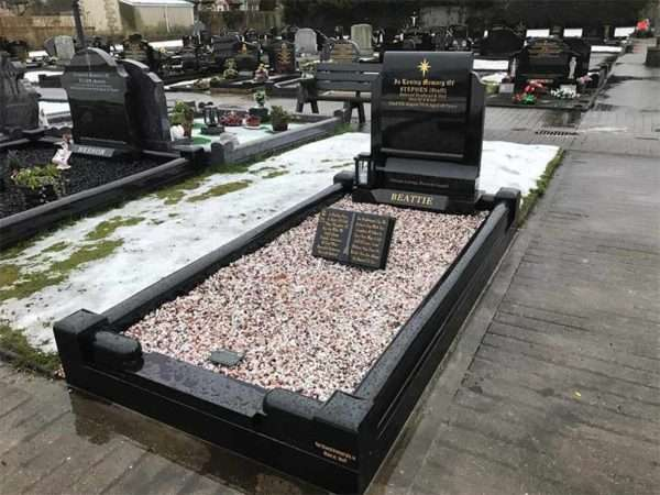 scroll headstone