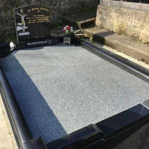 black granite surround headstone donegal
