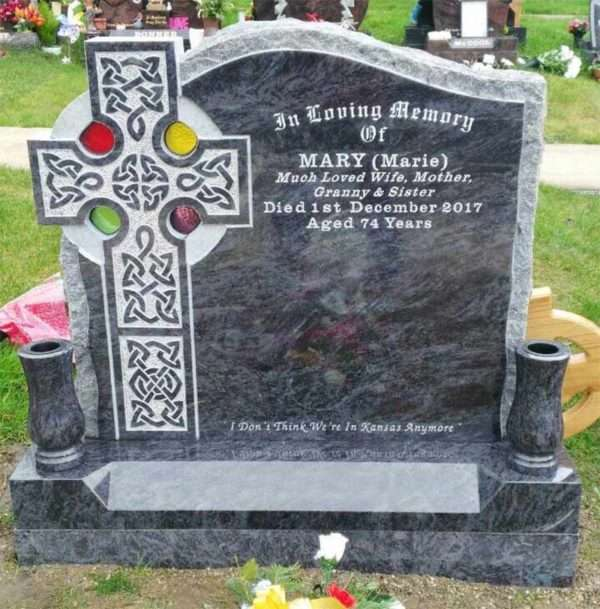 celtic headstone coloured