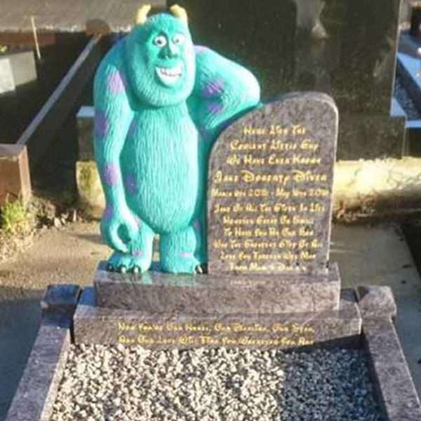monsters inc childrens headstone
