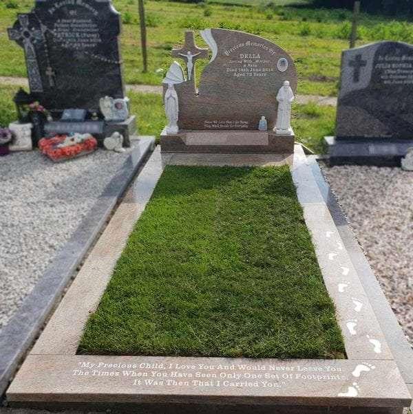 dove tail headstone