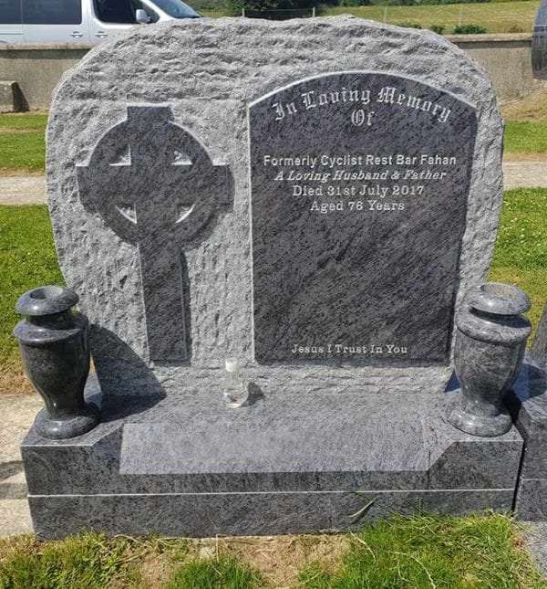 headstone with cross