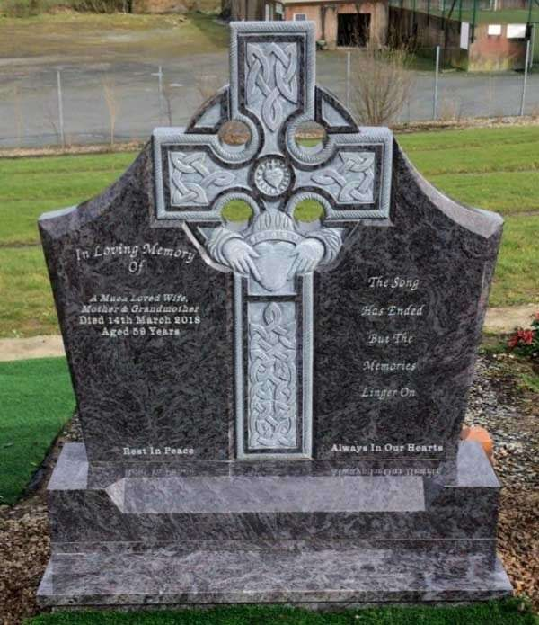 Celtic Claddagh Headstone Ireland