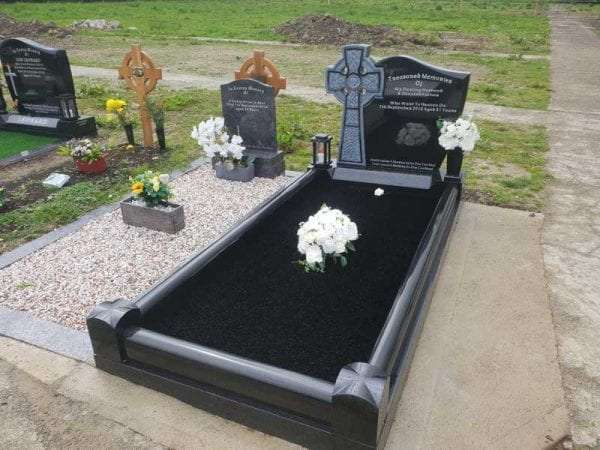 Celtic og top headstone donegal