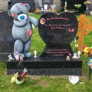 me to you bear childrens headstone