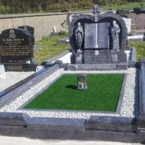 Heart Shape Grotto Headstone Donegal